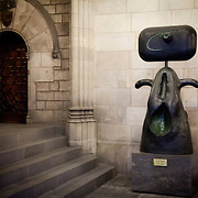 """Mujer"" sculpture by Joan Miro in Barcelona City Council, Catalonia, Spain"